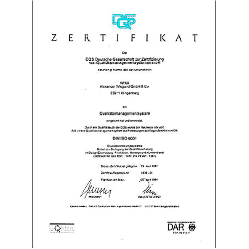 Quality management system gets certified