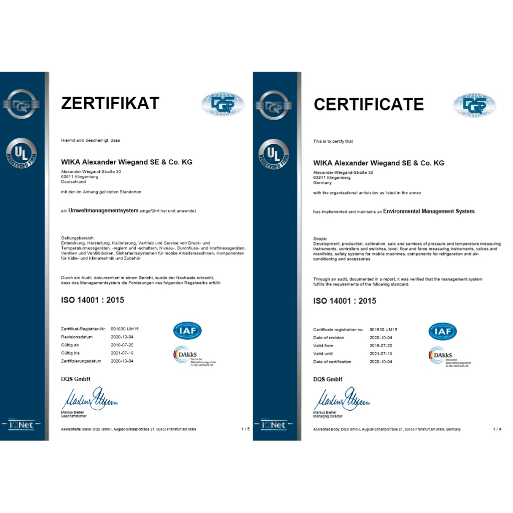 Certified to ISO 14001